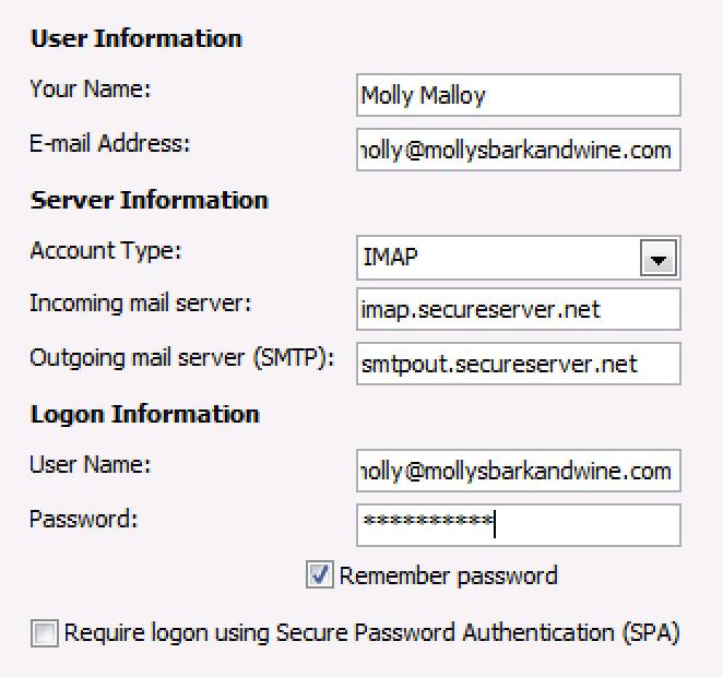 Enter Workspace email details