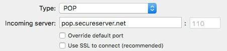 Enter incoming POP server: pop.secureserver.net