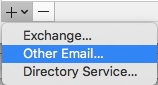Click Other Email button
