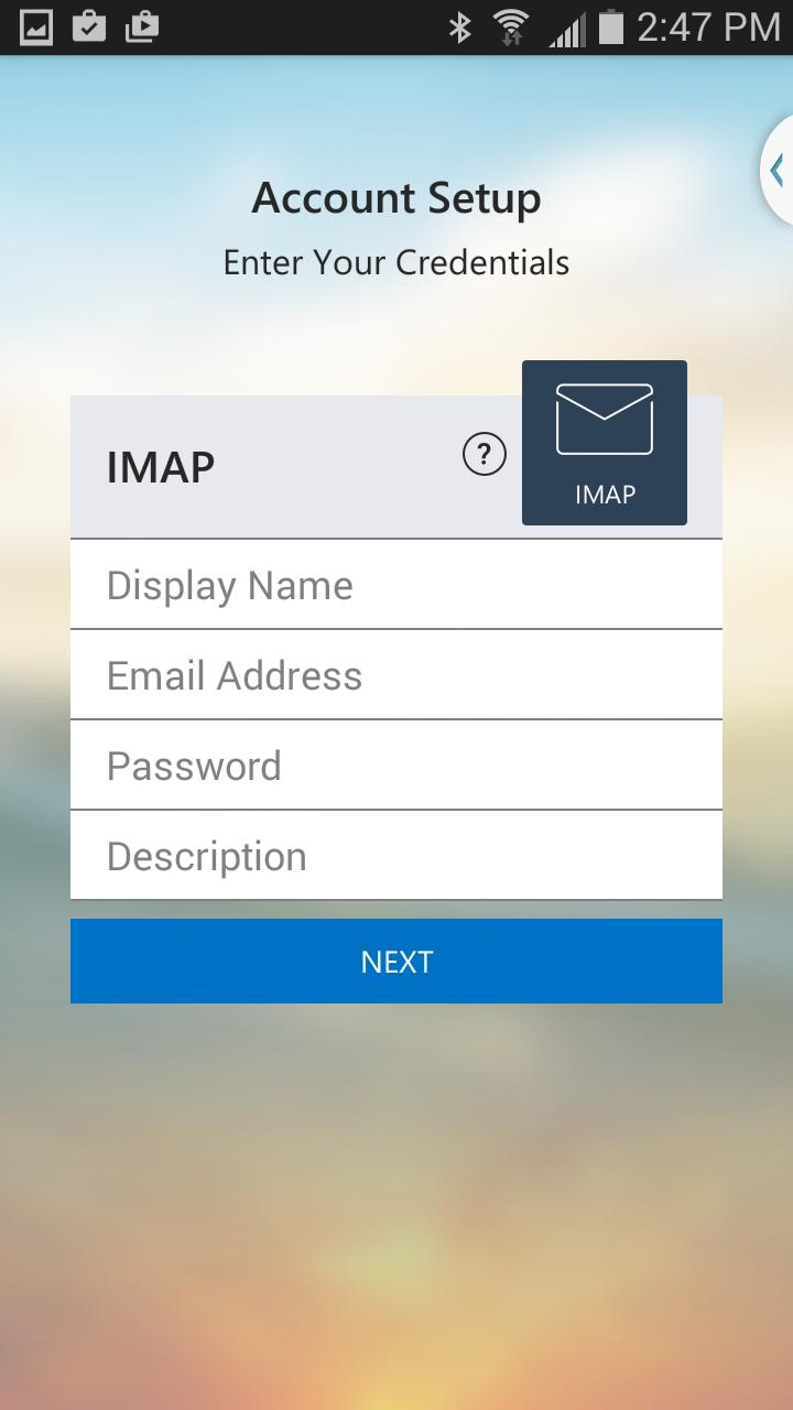 Click IMAP.